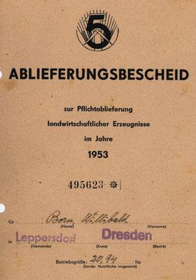 Titelblatt der Plan-Auflage für Bauer Born (ges. 6 Seiten).