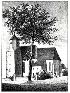 Radeberger Kirche um 1840