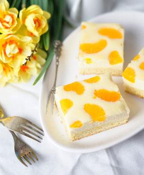 Mandarinenkuchen - Mandarine curd cake