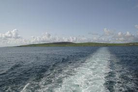 Abbildung: Blick von der Fähre Richtung Mainland / © Anita Soós