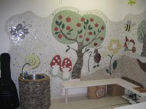 Mosaik Wand Kindertagespfleg Tagesmutter Monika Pikarek Lehre