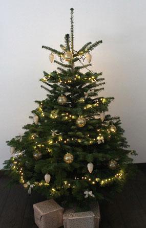 Geschmückter Künstlicher Weihnachtsbaum Mit Lichterkette.Home Echte Fertig Geschmückte Weihnachtsbäume Christbäume Online