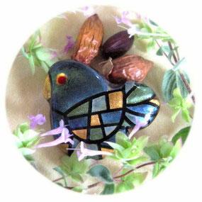 ♔ アリゾナ州原産原種のホホバ種子と瑠璃色の鳥