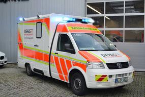 Krankenwagen der DEHiG - RETTUNGSDIENST