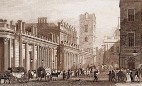 IMA.19.069 Bank von England, London (Frontansicht) (Stahlstich, 1827) / © Sammlung BFHG