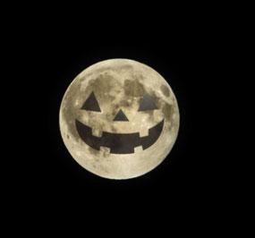 ハロウィンは満月