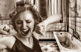 Frau Zusammenbruch Rollenbild
