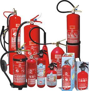 Tipos de extintores según su tamaño y su agente extintor