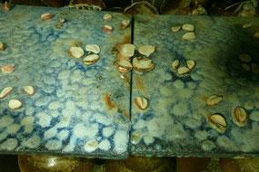 武州熊谷ひみこ窯 敷板の景色と童仙房、道具土