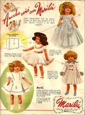 Publicidad de la famosa muñeca Marilú