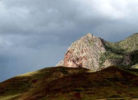 Regenschauer kam über den Berg