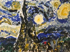 Vincent van Gogh starry night art KS2 lesson plan free painting
