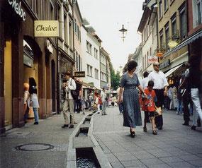 ドイツのフライブルクの街中