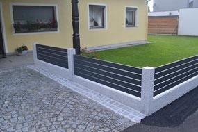 selbstbauzaun aus granit alu steineschleuder. Black Bedroom Furniture Sets. Home Design Ideas