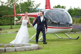 Mit dem Heli zum Hochzeit fliegen