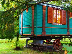 mieten konnte man hier auch kleine Zigeunerwagen