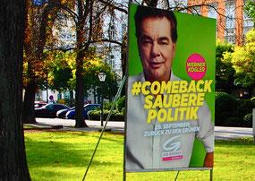 der Wahltag hatte einige Plakate hinterlassen