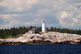 Leuchtturm bei Shelburne Nova Scotia