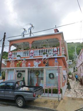 Ein Weihnachtshaus in Marigot