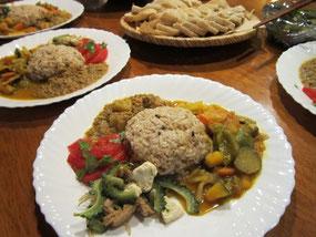 パオ特製、こだわり食材のマクロな食事、美味!