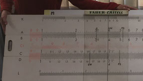 Regla de cálculo gigante Faber-Castell 315