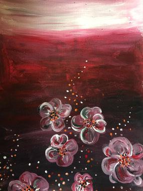 Tiefe - Acryl von Verena Bürkler