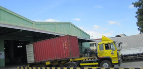 Container arrival at TRI warehouse