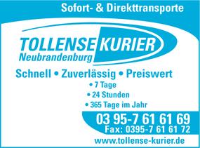 Markenauftritt Tollense-Kurier Neubrandenburg