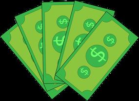 Hier sind grüne Geldscheine zu erkennen. Sie repräsentieren die Verdienstmöglichekiten beim Staking.