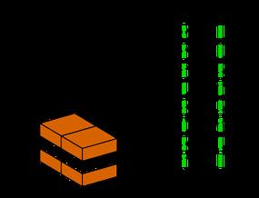 mattoni disposti a blocco