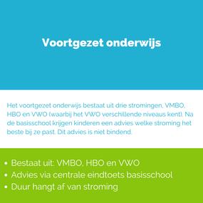 Overzicht voortgezet onderwijs in Nederland