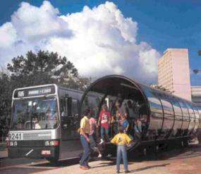ブラジル・クリチバ市のバス