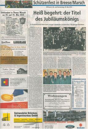 Elbe-Jeetzel-Zeitung 27.Mai 2014