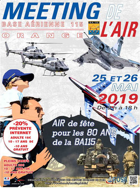 Meeting de l'air Base aerienne 115 Orange 2019