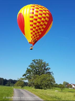 Ballonfahrt, Ballonfahrten, Ballonfahrt Voralpenland, Ballonfahrten Voralpenland, Ballonfahrt München, Ballonfahrten München
