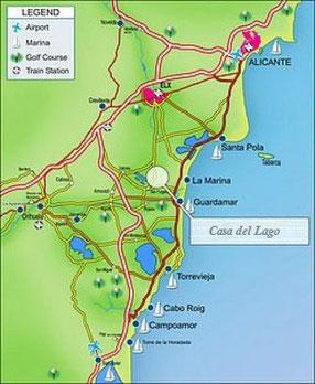 Locatie van Villa Casa del Lago