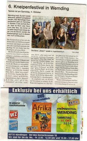 (Wochenzeitung, Oktober 2014)