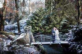 winterliche Märchenhochzeit von Maike und Andrea in Hamburg mit Trauung im Schloss Bergedorf, Hochzeitsfotograf Hamburg FOTOFECHNER