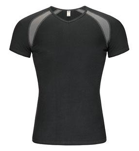 VINZ silkwear Sportbasic Herren T-Shirt. Baselayer aus reiner Bio-Seide. Kurzarmshirt Roger.