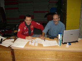 Turnierleitung Ingo Huppertz + Peter Röder