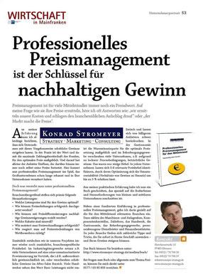 """Wirtschaft in Mainfranken - Konrad Stromeyer """"Professionelles Preismanagement im Mittelstand"""""""