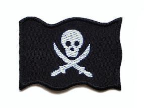 Piraten Patches, Hosenflicken Pirat zum aufbügeln, Knieflicken für Jungen
