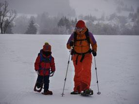 """Schneeschuhtour von der Bergstadt Platten zur Hütte """"Cervenajama"""", 6. Januar 2019"""