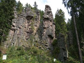 Klettern im Erzgebirge