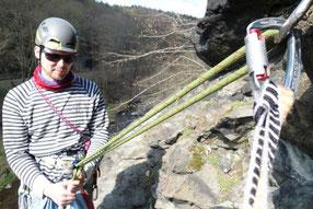 Sonntagsklettern im Klettergebiet Steinicht, 07.04.2019