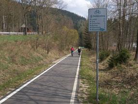 Radweg Wolfsgrün - Aue