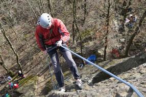 Frühlingsklettern im Klettergebiet Steinicht, 15.03.2020