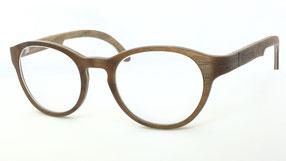 Hertkorn Holzbrille Nussbaum Halbmaser