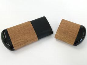 Hartschale, Brillenetui, Holz