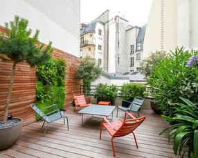Conception et réalisation d'une terrasse en ville